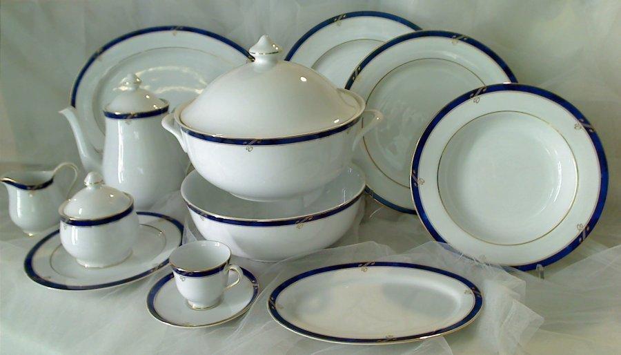 Servizio di piatti da tavola con caffe 39 per 12 nikko for Servizio di piatti