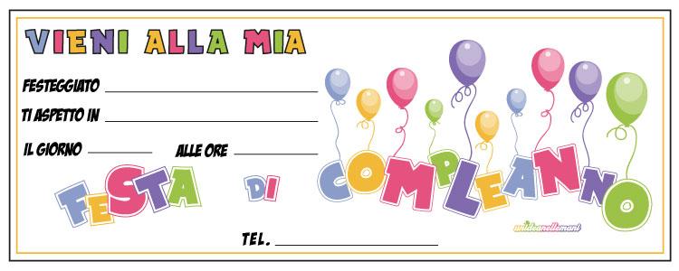 Invito Compleanno Palloncini Inviti On Line Compleanno